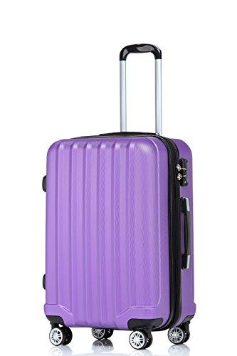 TSA-Schloß 2080 Hangepäck Zwillingsrollen neu Reisekoffer Koffer Trolley Hartschale XL-L-M(Boardcase) in 12 Farben (Lila, M)