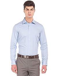 Arrow Men's Plain Regular Fit Formal Shirt