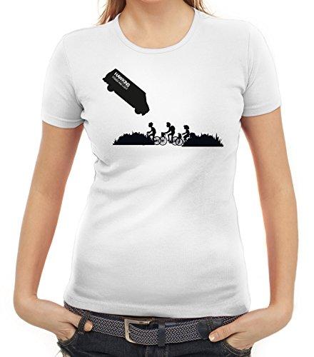 Mystery Serie Damen T-Shirt mit ST- Hawkins Van Motiv von ShirtStreet Weiß