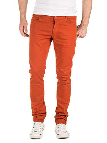 Yazubi Chinos Pantalones Slim fit - Simon - para Hombre, Naranja (Burnt Brick (181350)), W34/L32