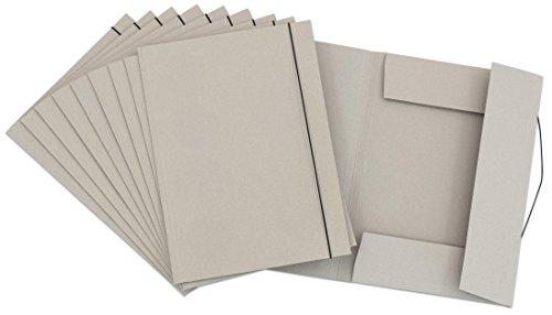Unbekannt Aufbewahrungs-Mappe 10 Stück DIN A3 mit Gummiband - Sammelmappen Ordnungsmappe Zeichnungen Bilder ordnen aufbewahren