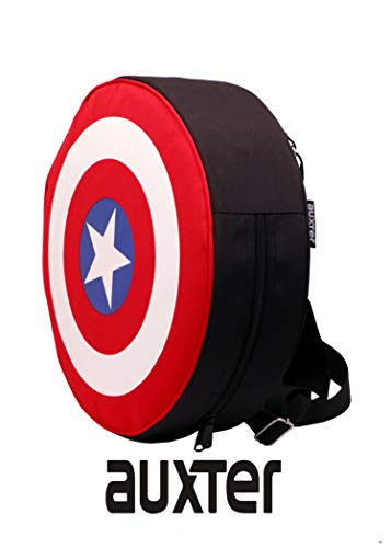 Best boys backpack in India 2020 Auxter Red Polyester 20L Avengers Captain America Shield School Backpack Image 2