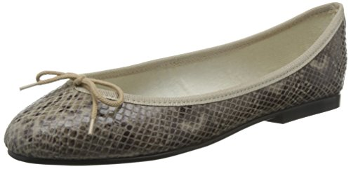 French Sole India Snake Effect, Ballerines Femme Beige