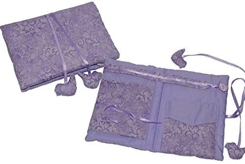 Unbekannt Schmuckrolle / Schmuck Tasche - lila violett aus Stoff für die Reise - Schmucketui Schmuckkästchen