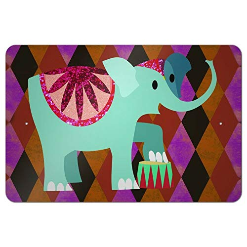 St574ony Metal Sign 6x9 Inches Funny Sign Poster Plaque Circus Elephant Home Business Office Sign -