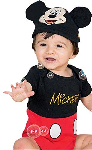 erdbeerloft - Unisex - Baby Karneval Kostüm Mickey Mouse , Mehrfarbig, Größe 74-80, 9-12 (Kostüm Ferkel Baby)