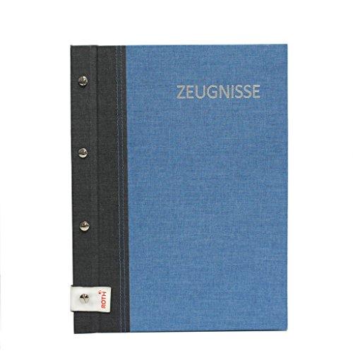 Roth Zeugnismappe Bicolor mit Buchschrauben Grey-Denim Blue