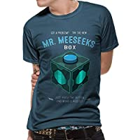 Rick & Morty Camiseta para Hombre Camiseta Mr. Meeseek Cotton Blue