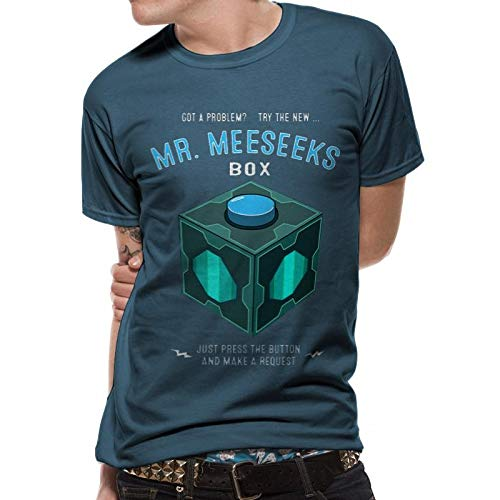Rick and Morty Meeseeks Box Camiseta Azul Marino S