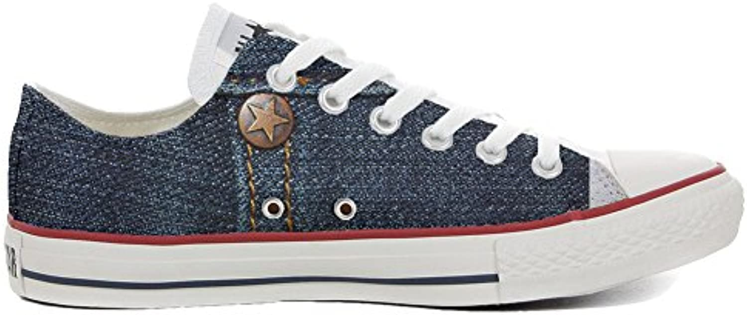 mys Converse All Star Low Customized Unisex Personalisierte Schuhe (Handwerk Schuhe) Slim Jeans Style TG32