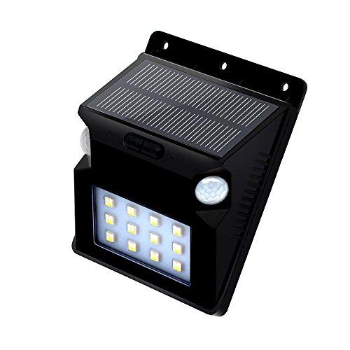 Fanxing New Fashion 12 LED Solar Power PIR Motion Sensor Wall Light Waterproof Garden Lamp