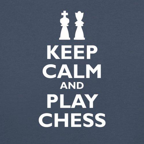 Keep Calm and Play Chess - Herren T-Shirt - 13 Farben Navy