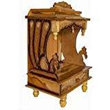 Surbhi Wall Hanging Wooden Temple for Office & Home (Brown)