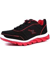 Sparx Men's Black Red Running Shoes (Sm-277)