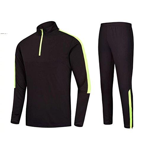 Zhuhaitf Alta qualità Casual Mens Fitness Training Fashion Long Sleeves Sports Clothes Suit Black