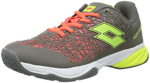 Lotto Viper Ultra II ALR, Zapatillas de Tenis para Hombre, Rojo / Amarillo (Red Fl / Ylw Saf), 45 EU