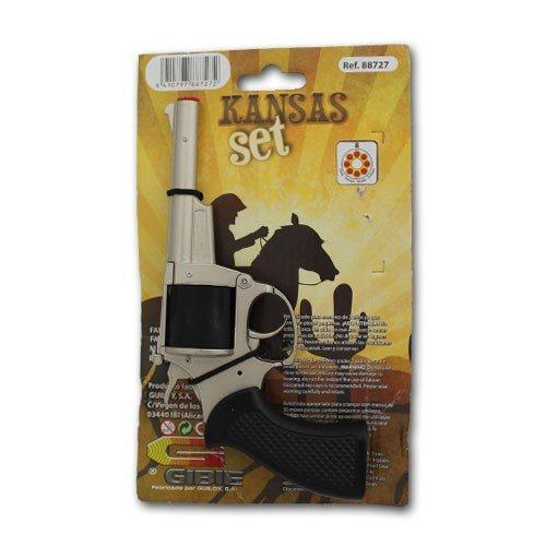 GIBIE Kansas Set Revolver und - Knallbonbon Kostüm