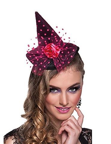 Rosafarbener Mini-Hexenhut für Damen