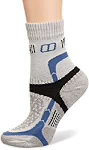 Berghaus Women's Fast Track Cushioned 1/2 Crew Sock - Extreme Silver/Della Robbia Blue/Coal, Large