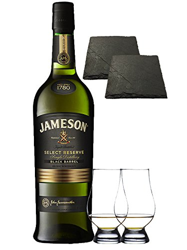 jameson-select-reserve-black-barrel-small-batch-07-liter-2-glencairn-glaser-und-2-schiefer-glasunter