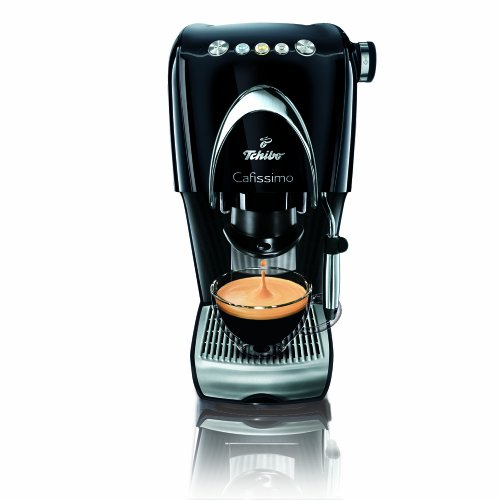 Tchibo Kapselmaschine Cafissimo CLASSIC Professional Edition, Piano Black für Kaffee, Espresso,...