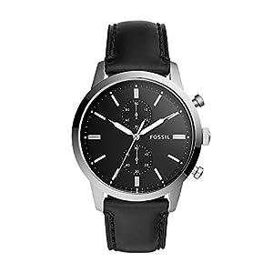 Fossil Herren Analog Quarz Uhr mit Leder Armband FS5396