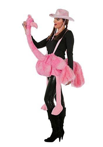Generique - Flamingo-Kostüm für Erwachsene Plüsch
