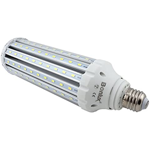 Bonlux 45W E27 LED lámpara del maíz blanco fresco 6000K super brillante 4500 lúmenes 400W halógeno / CFL 150W Bombilla Equivalente ES LED de reequipamiento para el almacén / taller / Jardín / Patio / Camino / alumbrado público