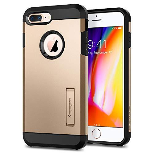 Spigen iPhone 8/7 Plus Hülle [Tough Armor 2] Doppel Schutzschicht Kickstand (Champagne Gold)