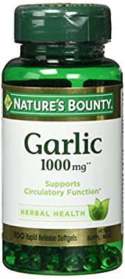 Odourless Garlic, 1000 mg, 100 Softgels by Nature's Bounty