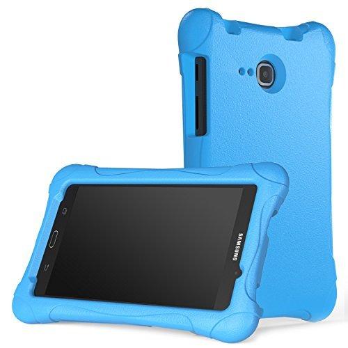 MoKo Hülle kompatibel mit Galaxy Tab A 7 - Superleicht Eva Stoßfest Kinderfre&lich Schutzhülle Tasche Schale, Blau