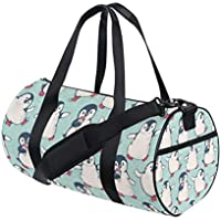 MALPLENA Green Leaves Travel Duffel Bag Weekender Bag with Shoes Compartment for Men Women