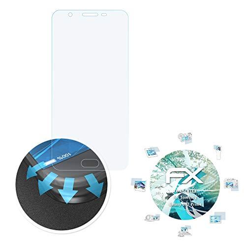 atFolix Schutzfolie passend für Samsung Galaxy On7 Prime Folie, ultraklare & Flexible FX Bildschirmschutzfolie (3X)