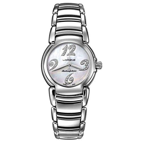 Reloj LORENZ Montenapoleone números con diamantes esfera nácar Mujer Acero 025745AA