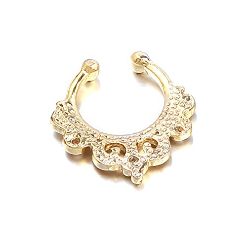 vcmart 1Faux Fake Tribal Swirl Septum Nase Wechselrahmen Kleiderbügel Ringe Ohrstecker Body Jewelry