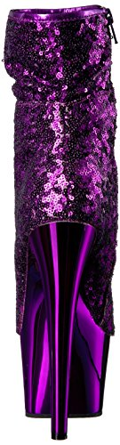 Pleaser ADORE-1008SQ Purple Sequins/Purple Chrome