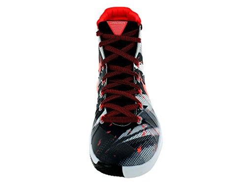 Nike Hyperdunk 2015 Prm, Chaussures de Sport-Basketball Homme Multicolore - Blanco / Naranja / Negro (White / Bright Crimson-Black)