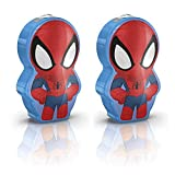 Marvel 2PC Mini LED Superhero Pocket Torch Set - Spider-Man Twin Pack - Uses 2 x AAA Batteries (Not Supplied)