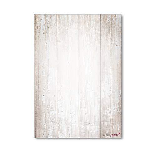 Holz Motiv-Papier Set I 50 Blatt in DIN A4 I Briefpapier Schreibpapier Briefbogen für Urkunden Einladung Geburtstag Speisekarten I dv_210