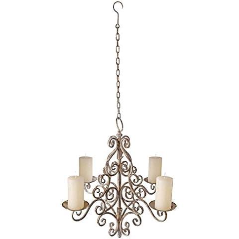 Esschert Design - Candelabro con candele, in