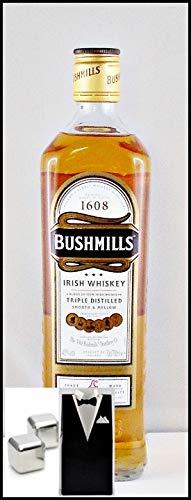 Bushmills Original Irish Whiskey mit 2 Original Edelstahl Kühlsteine im Smoking, kostenloser Versand -