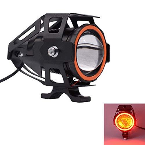 Bianchi Motorcycle Headlight 3000LM moto spotlight U7 LED Driving Fog Spot Head Light -