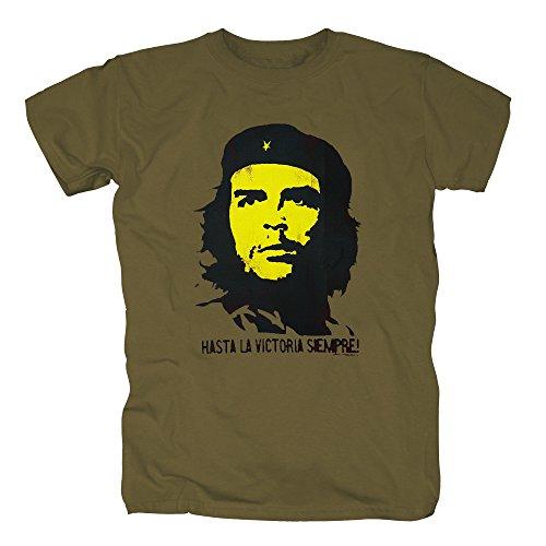 TSP Che Guevara - Hasta la T-Shirt Herren XXL Dunkelgrün