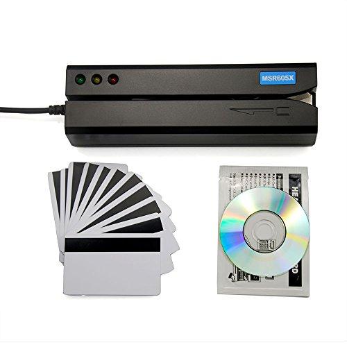 Deftun MSR605X Lecteur-encodeur de cartes à bande magnétique USB MSR206