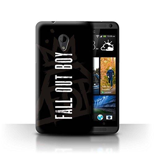 Offiziell Fall Out Boy Hülle / Case für HTC Desire 700 / Pyramide/Schwarz Muster / FOB Band Logo - Handy-fall, Desire 700 Htc
