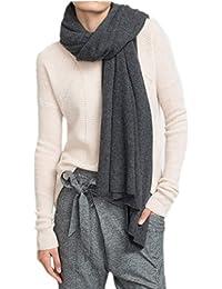 Prettystern - LUXUS 200cm X 55cm 2-fädiger 100% Kaschmir gewebter Winter Warm Weich kuschlig Schal