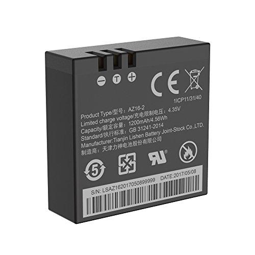 YI Batteria di Ricambio Compatibile per YI Lite / 4K / 4K+ Action Camera