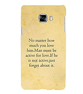 PrintVisa Designer Back Case Cover for Samsung Galaxy C5 SM-C5000 (Love :: Forget :: Best Love Quotation :: Active :: Quote)