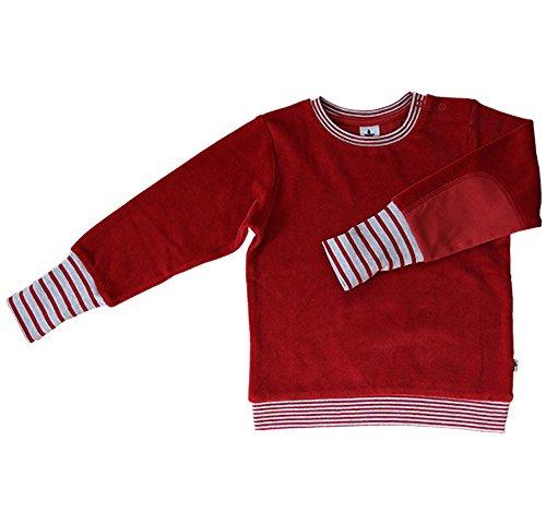 Baby Kinder Nicky Sweatshirt 100% Bio-Baumwolle GOTS Jungen Mädchen Langarmshirt T-Shirt Gr. 62/68 bis 140 (86/92, rot-Ziegel)