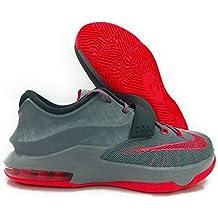Nike KD VII GG Kids Sneaker Magnet Grey/Light Magnet Grey/Dark Magnet Grey/Hyper Punch 669942–001(Tamaño: 4Y)